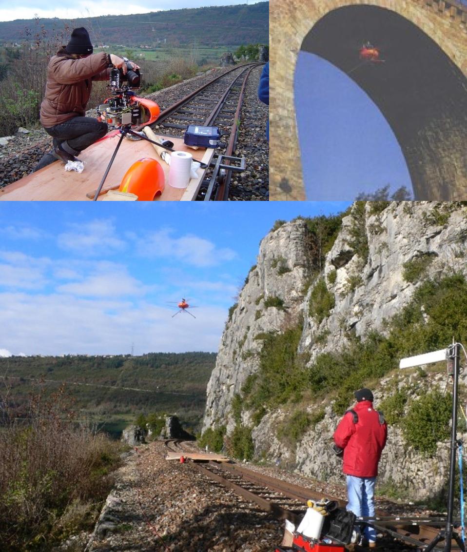 Premiers essais drone ligne dite des Carpates (Bourg-en-Bresse à Bellegarde-sur-Valserine SNCF
