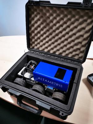 Prototype de robot d'inspection sous caisse - Altametris