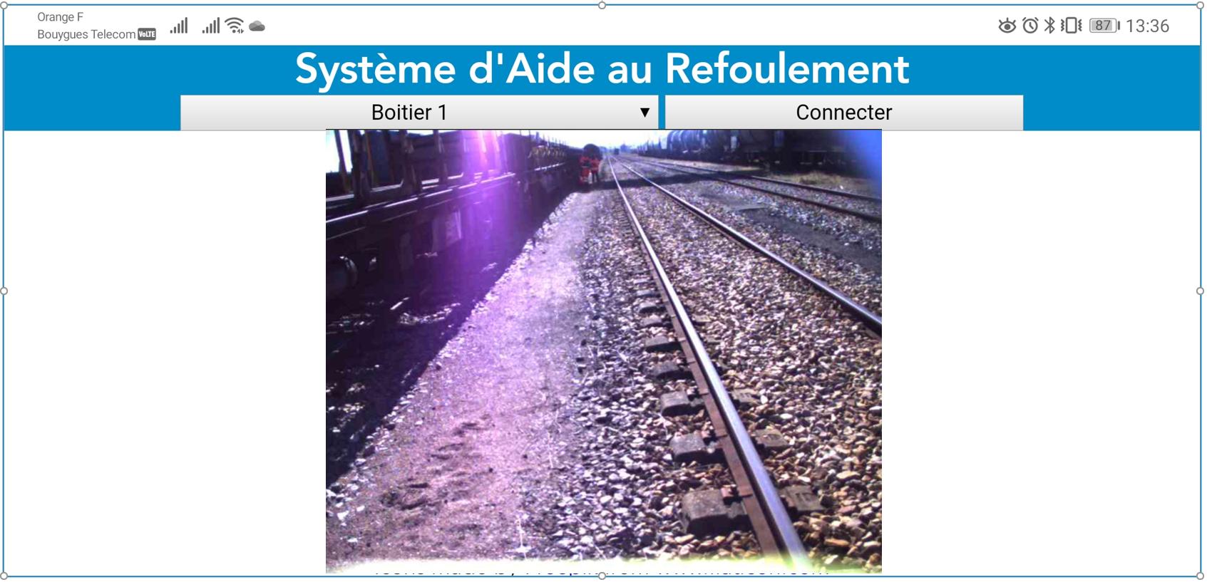 Système d'aide au refoulement video pour train par Altametris