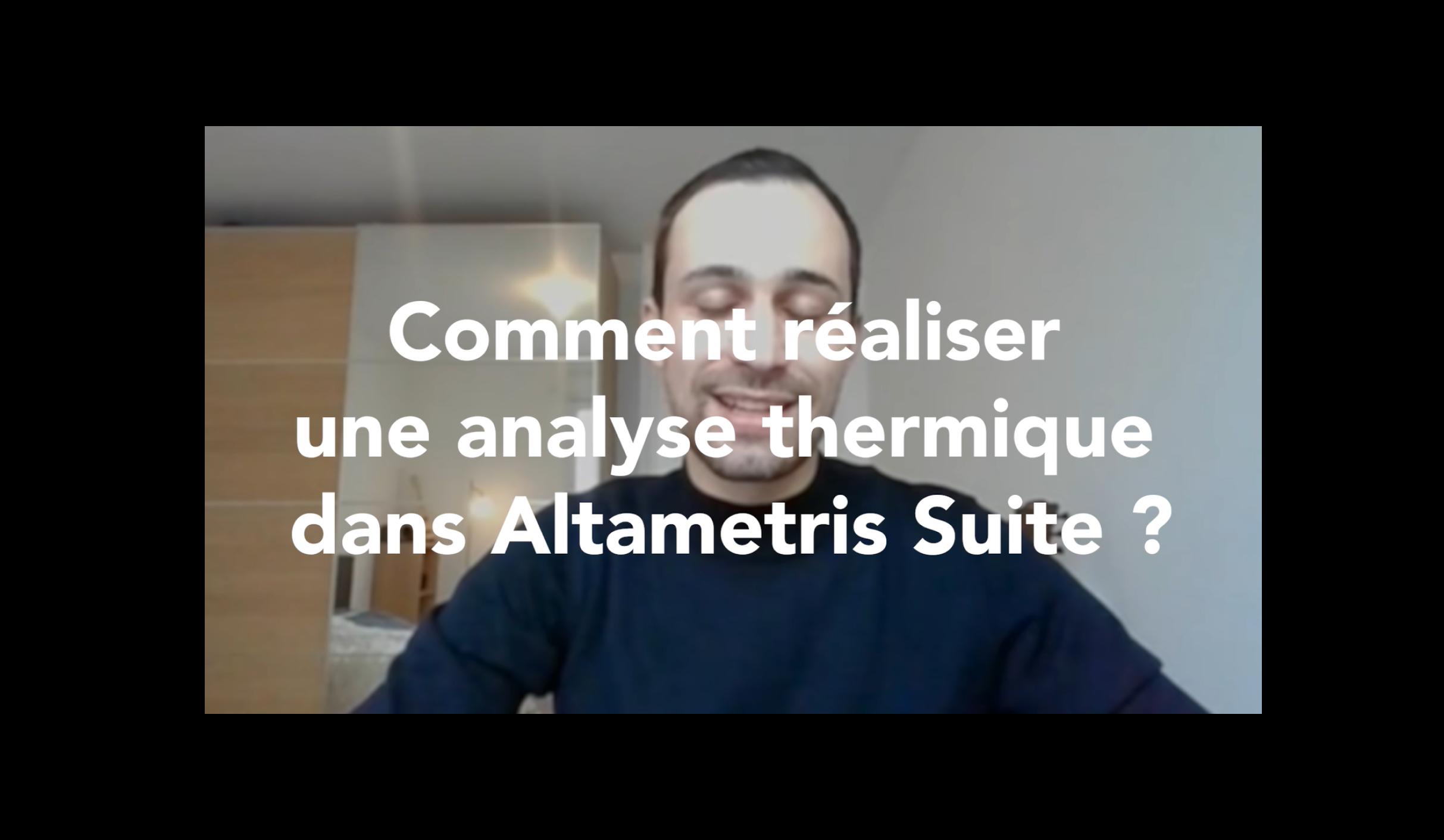 Analyse thermique dans Suite