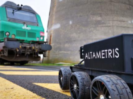 Robot Inspection sous caisse de train Altametris 2